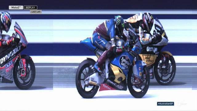 Финиш гонки Moto2 Гран-При Австралии 2016