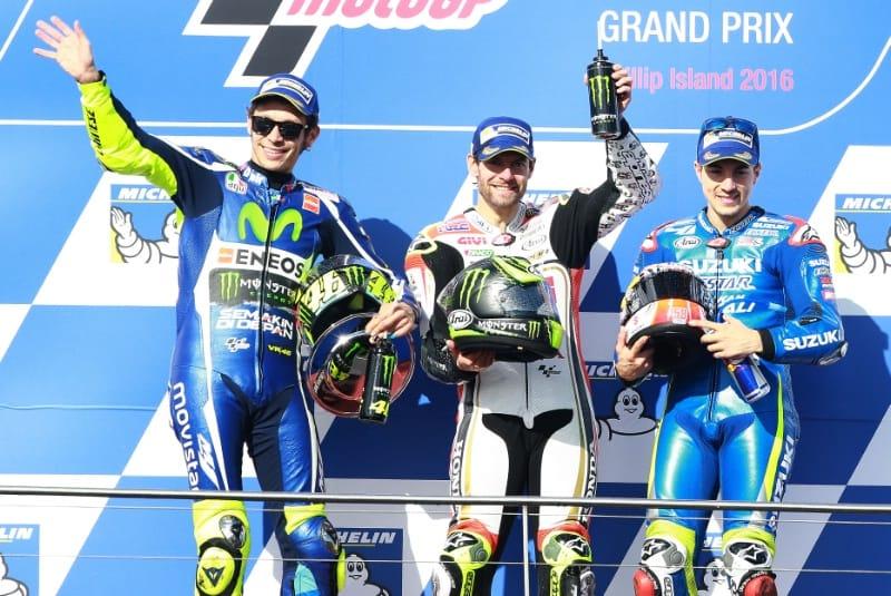 Росси, Крачлоу, Виньялес. Гран-При Австралии 2016