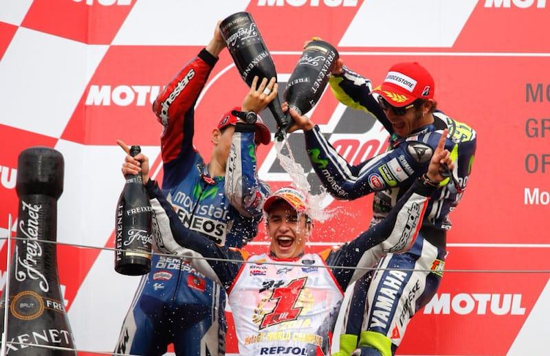 Лоренсо, Росси и Маркес - чемпион мира MotoGP 2014 в Мотеги