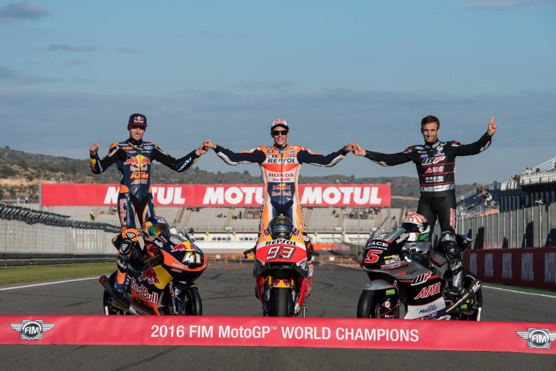 Биндер, Маркес, Зарко - чемпионы 2016 года