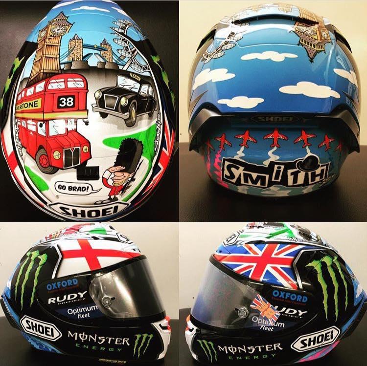 Шлем Брэдли Смита для Гран-При Валенсии 2016