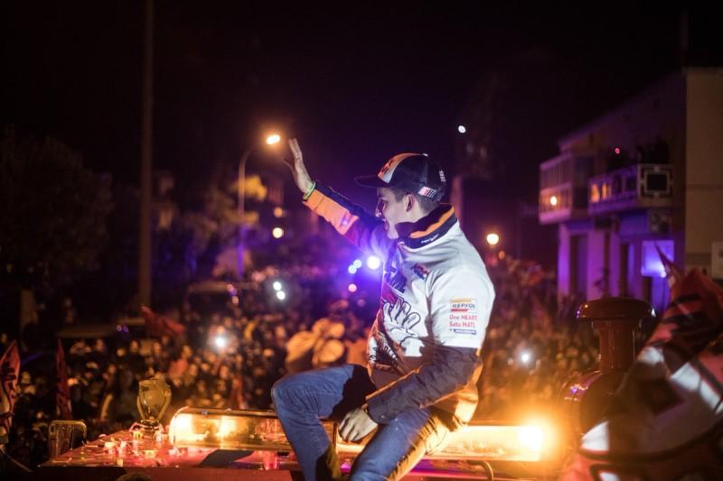 Марк Маркес отпраздновал свой чемпионский титул 2016