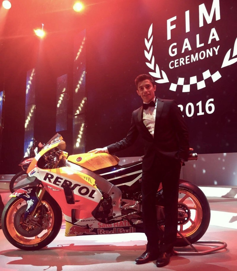 Марк Маркес на FIM Awards 2016