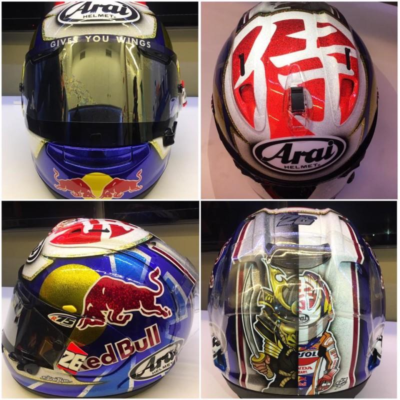 Шлем Дани Педросы для Гран-При Валенсии 2016