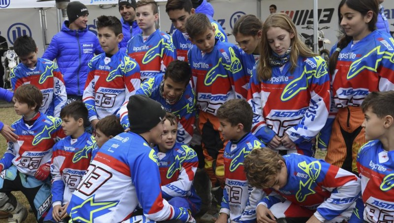 Марк Маркес в лагере Allianz Junior MotorCamp 2016