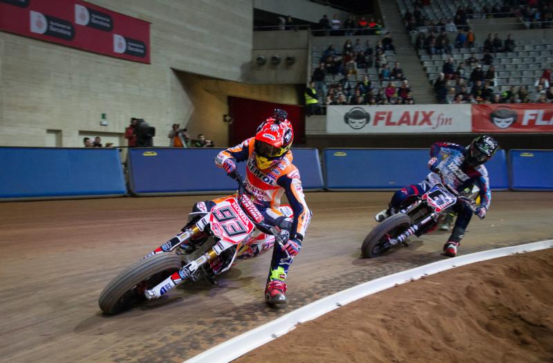 Маркес и Бейкер на Superprestigio Dirt Track 2016