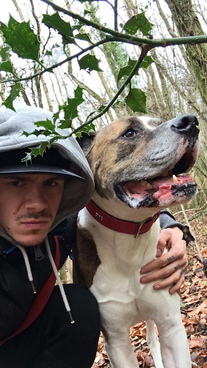 Скотт Реддинг и его верный пес