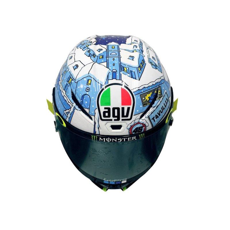 Шлем Росси, специально подготовленный к зимним тестам