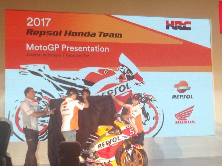 Honda RC213V в ливрее 2017 года