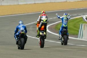 2003 : 1. Sete Gibernau, 2. Valentino Rossi, 3. Alex Barros