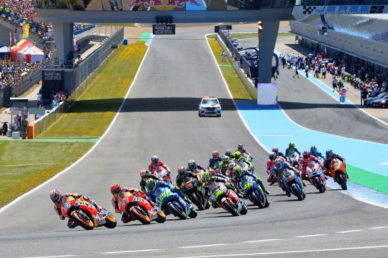 Старт гонки MotoGP Гран-При Испании 2017, Херес