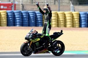 Зарко празднует второе место   MotoGP Гран-При Франции 2017   2017 05 GP France 00487