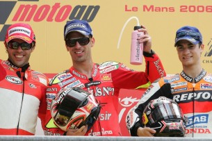 2006 : 1. Marco Melandri, 3. Loris Capirossi, 3. Dani Pedrosa