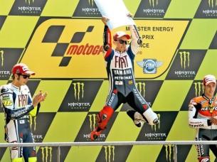 2010 : 1. Jorge Lorenzo, 2. Valentino Rossi, 3. Andrea Dovizioso