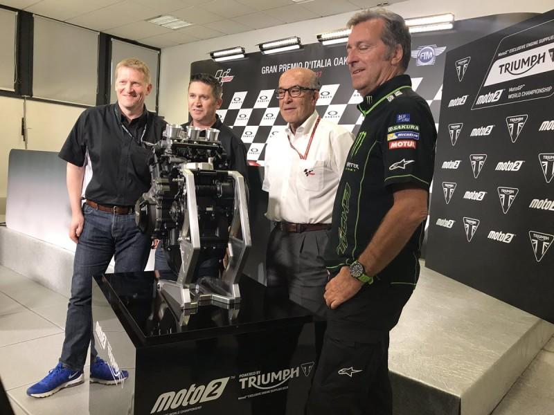 Объявление о сотрудничестве Гран-При с Triumph (Муджелло, 2017)