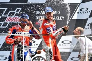 Подиум, Муджелло, Довициозо, Петруччи| MotoGP Гран-При Италии 2017 |   00411