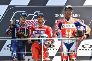 Подиум, Виньялес, Довициозо, Петруччи | MotoGP Гран-При Италии 2017 |   00415