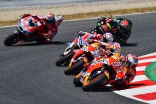 Маркес, Педроса, Довициозо, Лоренсо, Фольгер   MotoGP Гран-При Каталонии 2017    00429