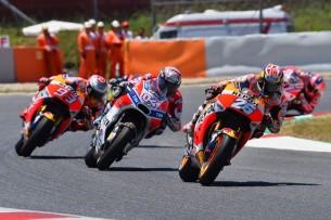 Педроса, Довициозо, Маркес   MotoGP Гран-При Каталонии 2017    00433