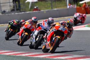 Педроса, Довициозо, Маркес   MotoGP Гран-При Каталонии 2017    00437