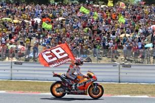 Маркес, флаг  MotoGP Гран-При Каталонии 2017    00468