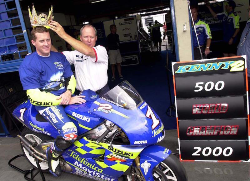 Кенни Робертс, чемпион MotoGP 2000 года