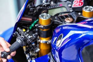 Ручной задний тормоз на мотоцикле Маверика Виньялеса