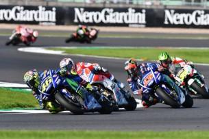 Росси, Дови, Виньялес, Крачлоу   MotoGP Гран-При Великобритании 2017    00418