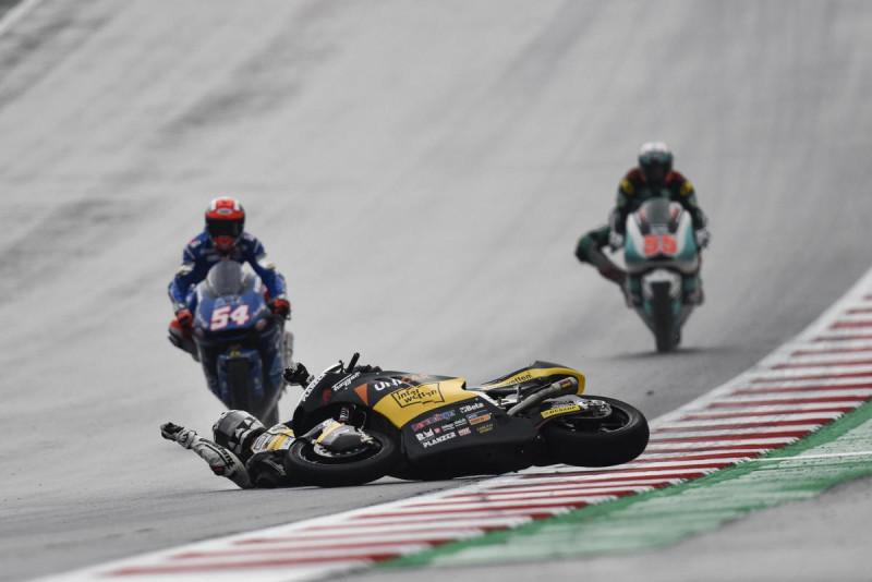 Дождевая тренировка Moto2 Гран-При Австрии 2017