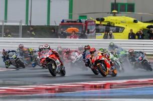 Старт гонки MotoGP Гран-При Сан-Марино, Мизано 3