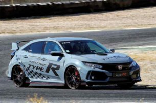 Педроса, Боу и Маркес на презентации Honda Civic Type R