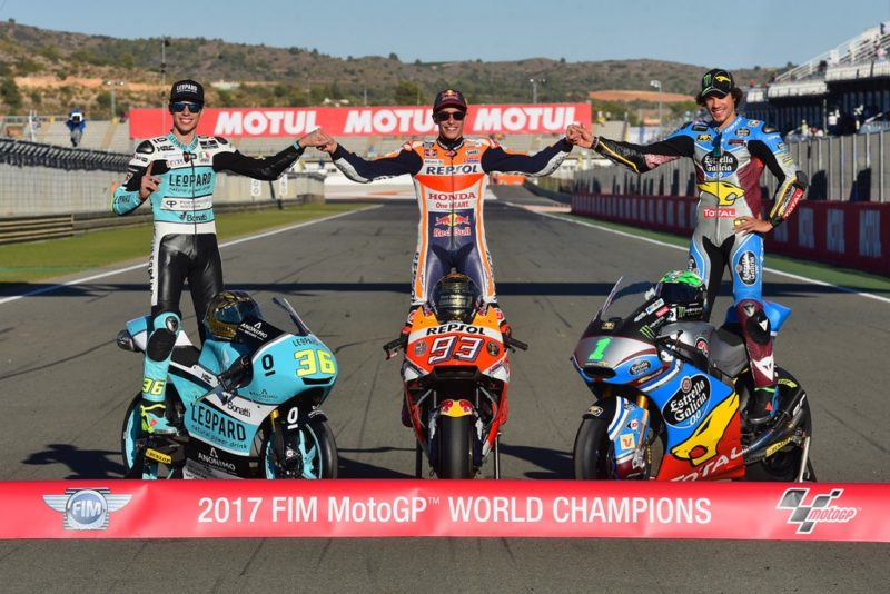 Мир, Маркес, Морбиделли - чемпионы Гран-При 2017 года