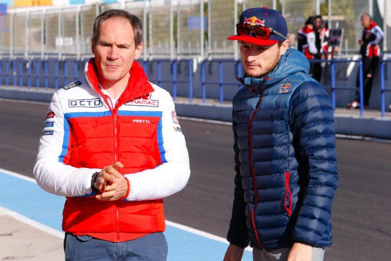 Пупулин и Миллер на тестах MotoGP в Хересе (2017)