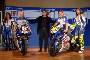 Эдвардс и Росси на презентации FIAT Yamaha 2007