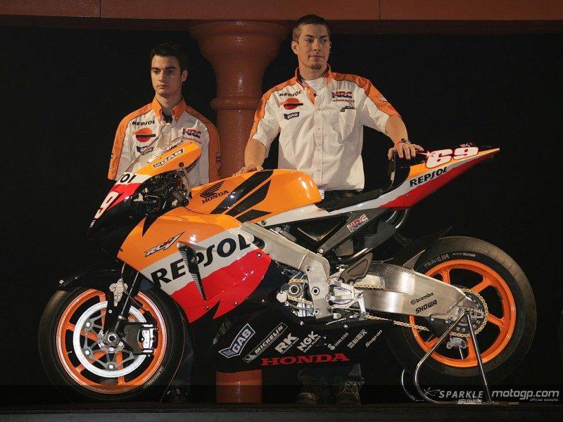 Педроса и Хэйден на презентации Repsol Honda 2006
