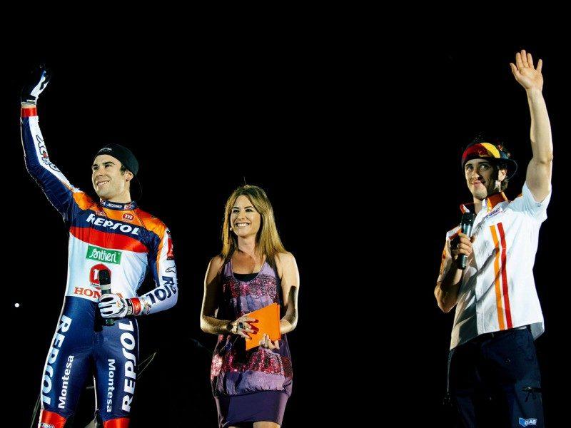 Андреа Довициозо на презентации Repsol Honda 2009