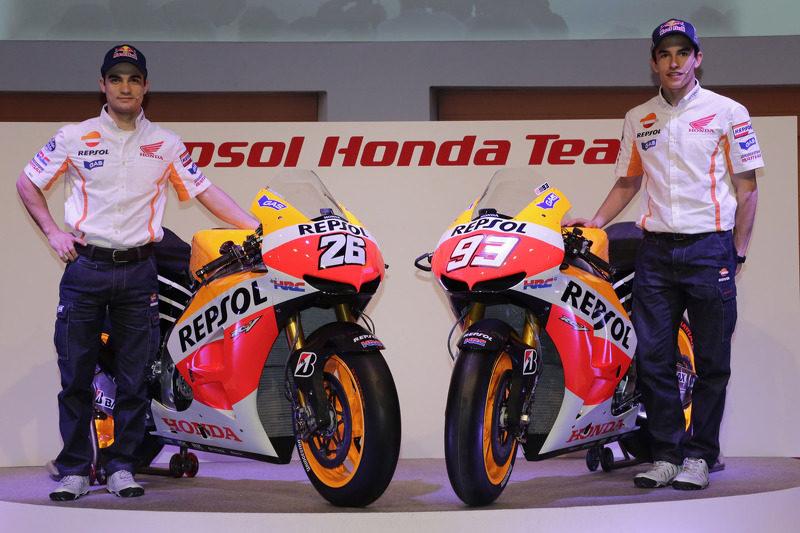 Маркес и Педроса на презентации Repsol Honda 2013