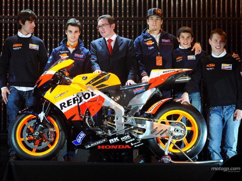 Педроса и Хэйден на презентации Repsol Honda 2008