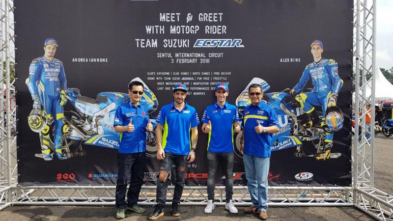 Ринс и Ианноне на Suzuki Bike Meet 2018
