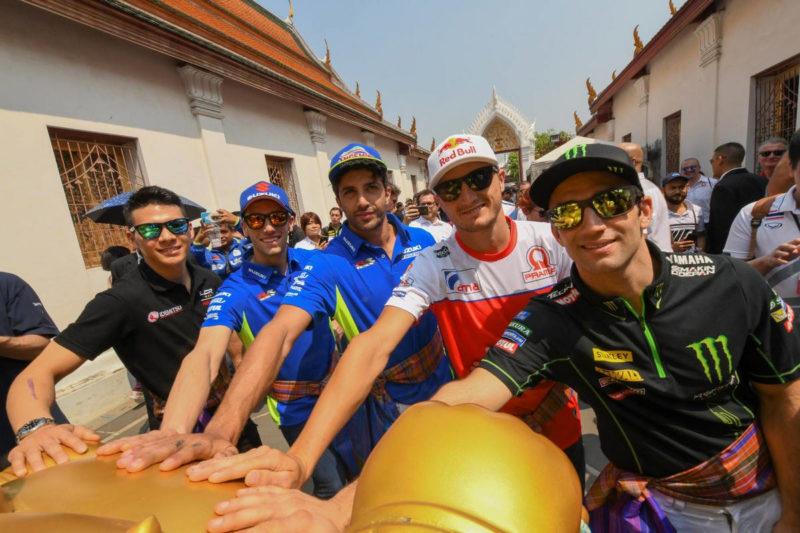 Ринс, Зарко, Миллер, Накагами и Ианноне в Таиланде (тесты MotoGP 2018)