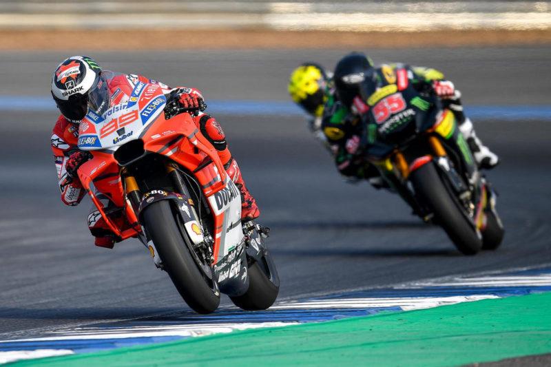 Аэрообтекатель Ducati (тесты в Таиланде 2018)