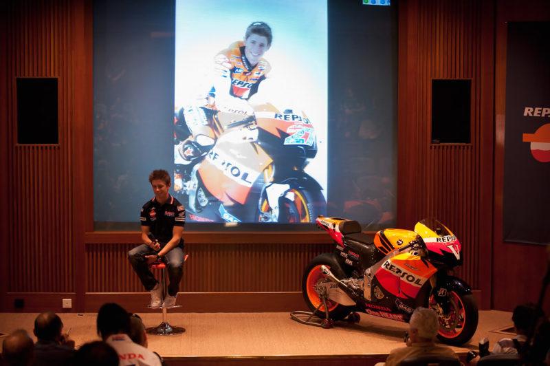 Кейси Стоунер на презентации Repsol Honda 2011