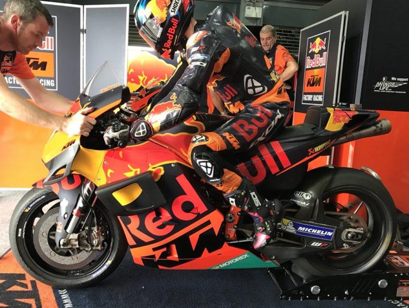 Аэрообтекатель КТМ (тесты MotoGP 2018 в Таиланде)