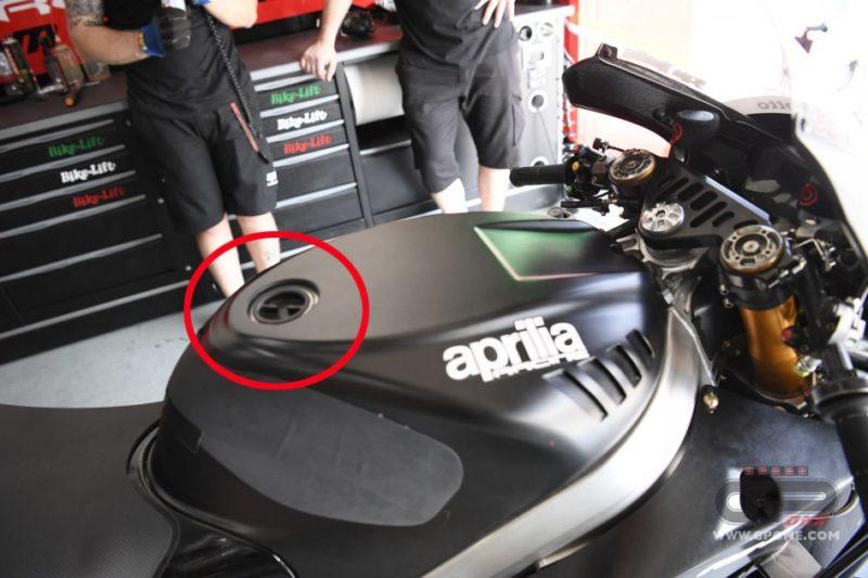 Топливная горловина на Aprilia RS-GP 2017