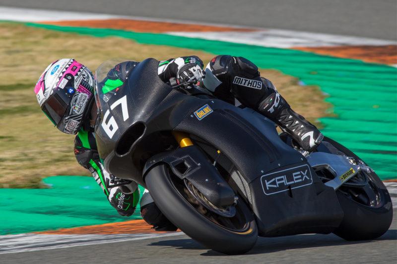 Жиско Раффин тестирует Kalex Triumph Moto2