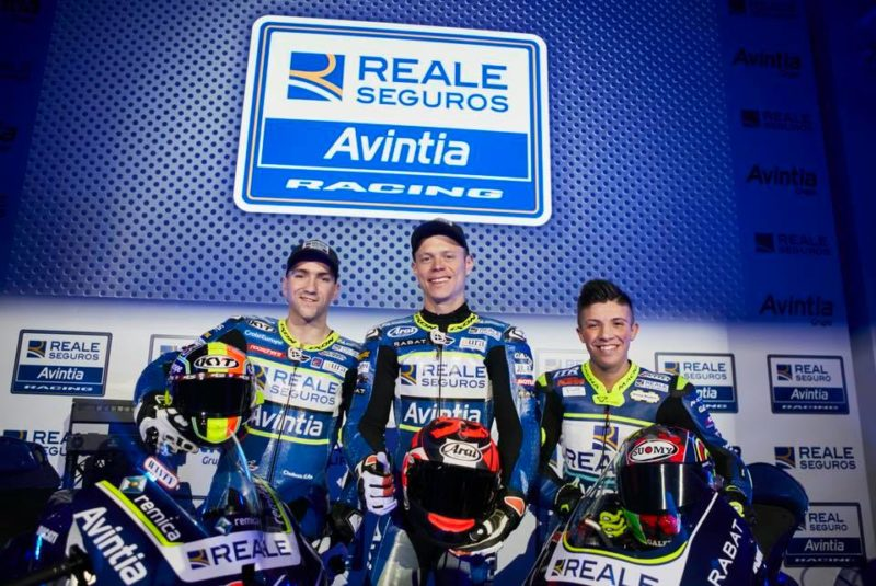 Симеон, Рабат и Лои на презентации Reale Avintia Racing 2018