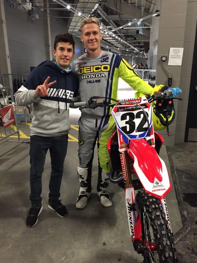 Марк Маркес и Кристиан Крейг (FIM Supercross 2018)