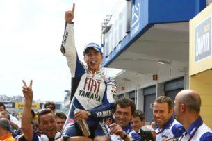 Хорхе Лоренсо выиграл первую гонку MotoGP (Эшторил, 2008)