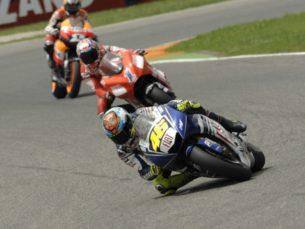 Росси, Стоунер, Педроса (Муджелло, 2008)
