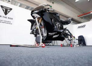 Тесты мотоцикла Triumph Moto2 (Арагон, 2018)